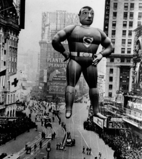 Superman at the 1939 Macy's Thanksgiving Day Parade.