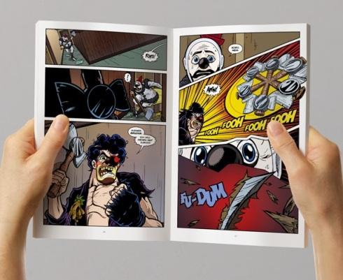 WARNING: Comic book may contain German axe murdering clowns.